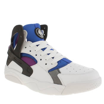 Unisex Nike White & Black Flight Huarache Unisex Youth
