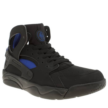 Unisex Nike Black and blue Flight Huarache Unisex Youth