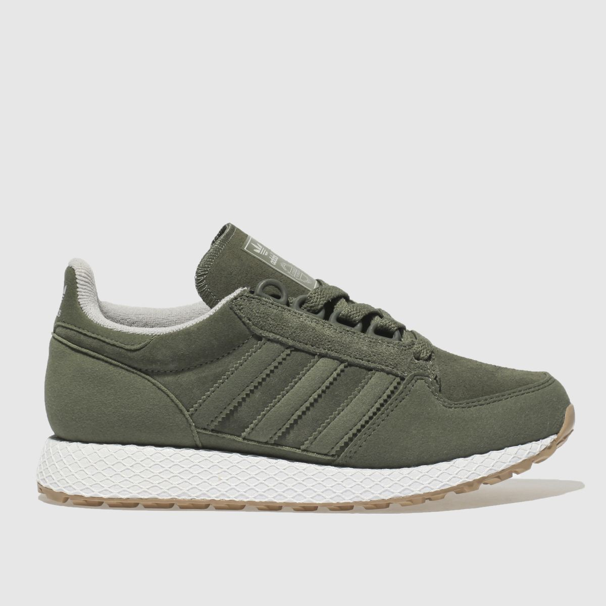 Adidas Khaki Forest Grove Trainers Youth