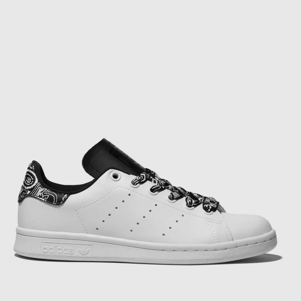 Adidas White & Black Stan Smith Trainers Youth