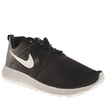 Unisex Nike Grey & Black Roshe Run Flight Weight Unisex Youth