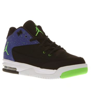 Nike Jordan Black & Green Jordan Flight Origin3 Unisex Youth