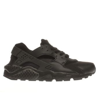 NIKE BLACK HUARACHE RUN YOUTH TRAINERS