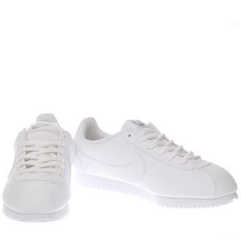 White Nike Cortez Youth
