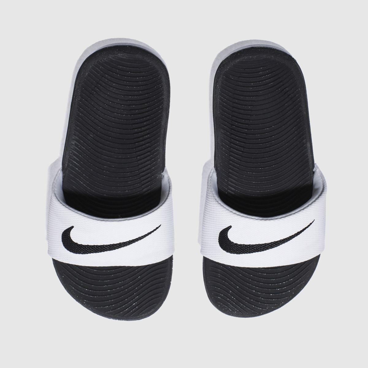 Nike White & Black Kawa Slide Trainers Youth