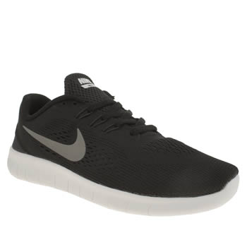 Nike Black & White Free Rn Unisex Youth