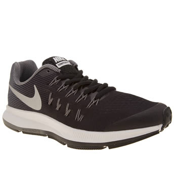 Nike Black & Grey Zoom Pegasus 33 Unisex Youth