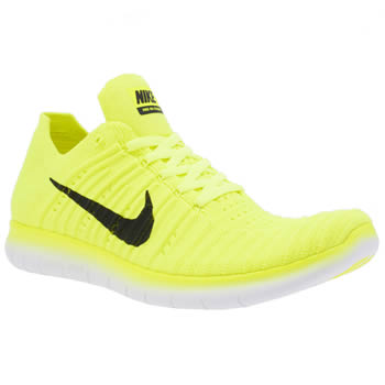 Nike Yellow Free Rn Flyknit Unisex Youth