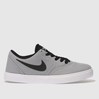 Nike Sb Grey Check Canvas Unisex Youth