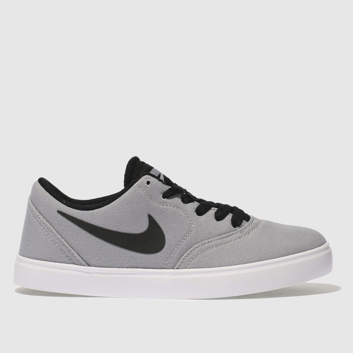 Nike Sb Light Grey Check Canvas Unisex Youth Youth