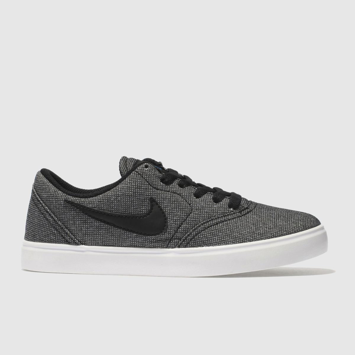 Nike SB Nike Sb Black & Grey Check Youth Trainers