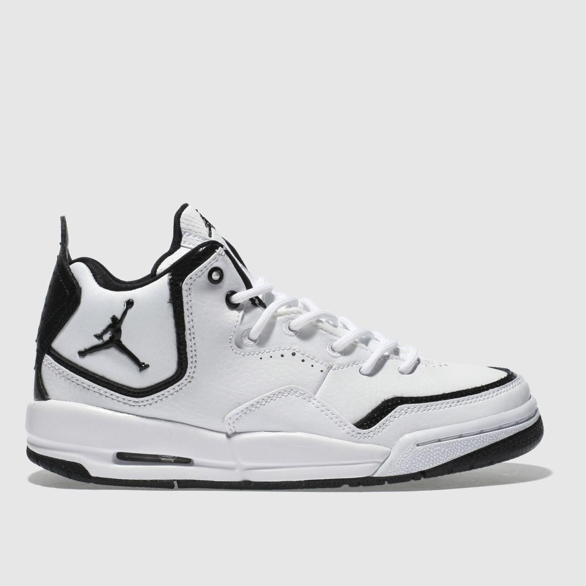 Nike Jordan White & Black Courtside 23 Youth Trainers