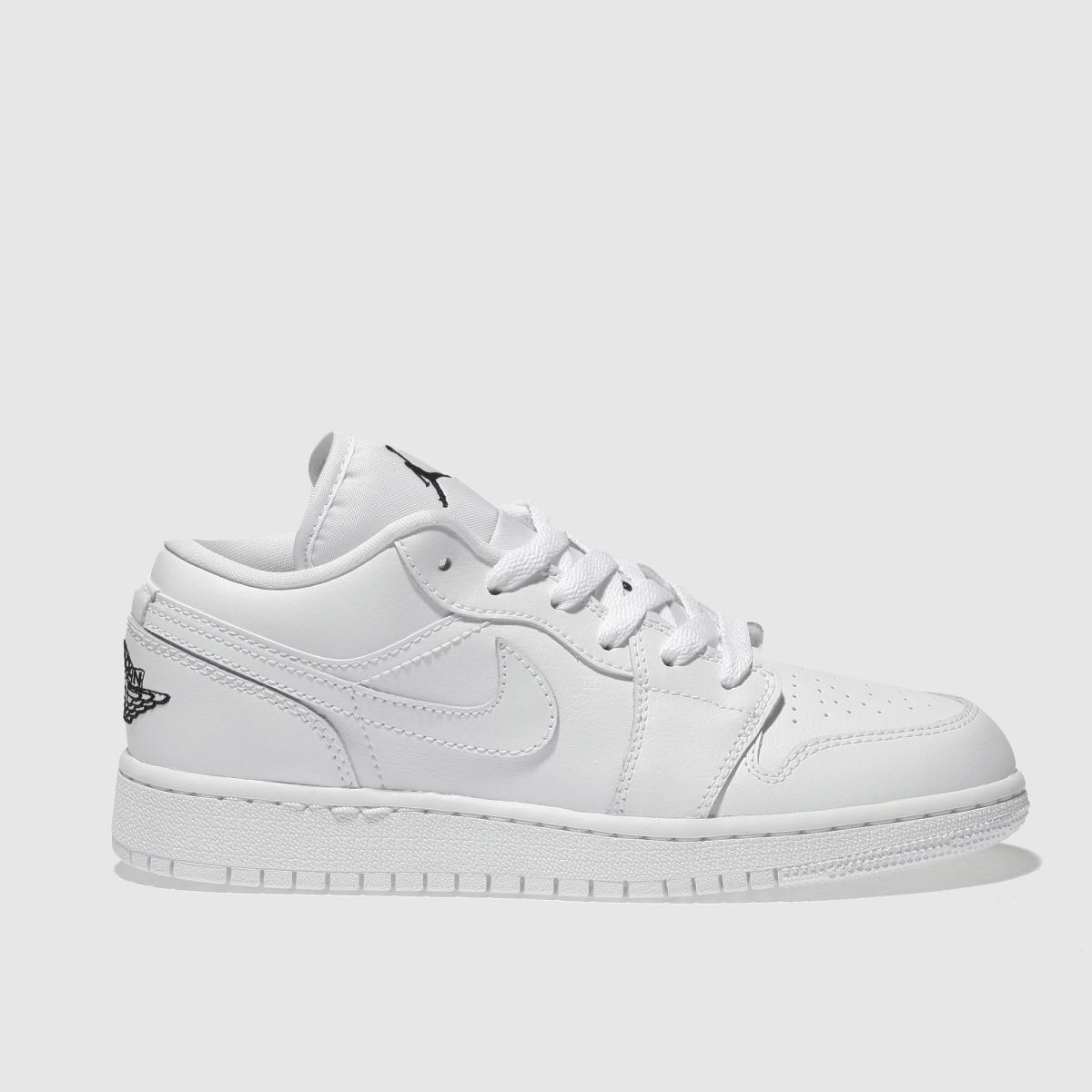 nike jordan Nike Jordan  White & Black Nike Jordan 1 Low Youth Trainers