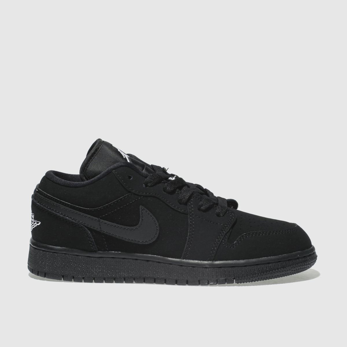 Nike Jordan Black & White Nike Jordan 1 Low Trainers Youth