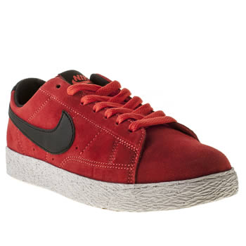 kids nike red blazer low trainers