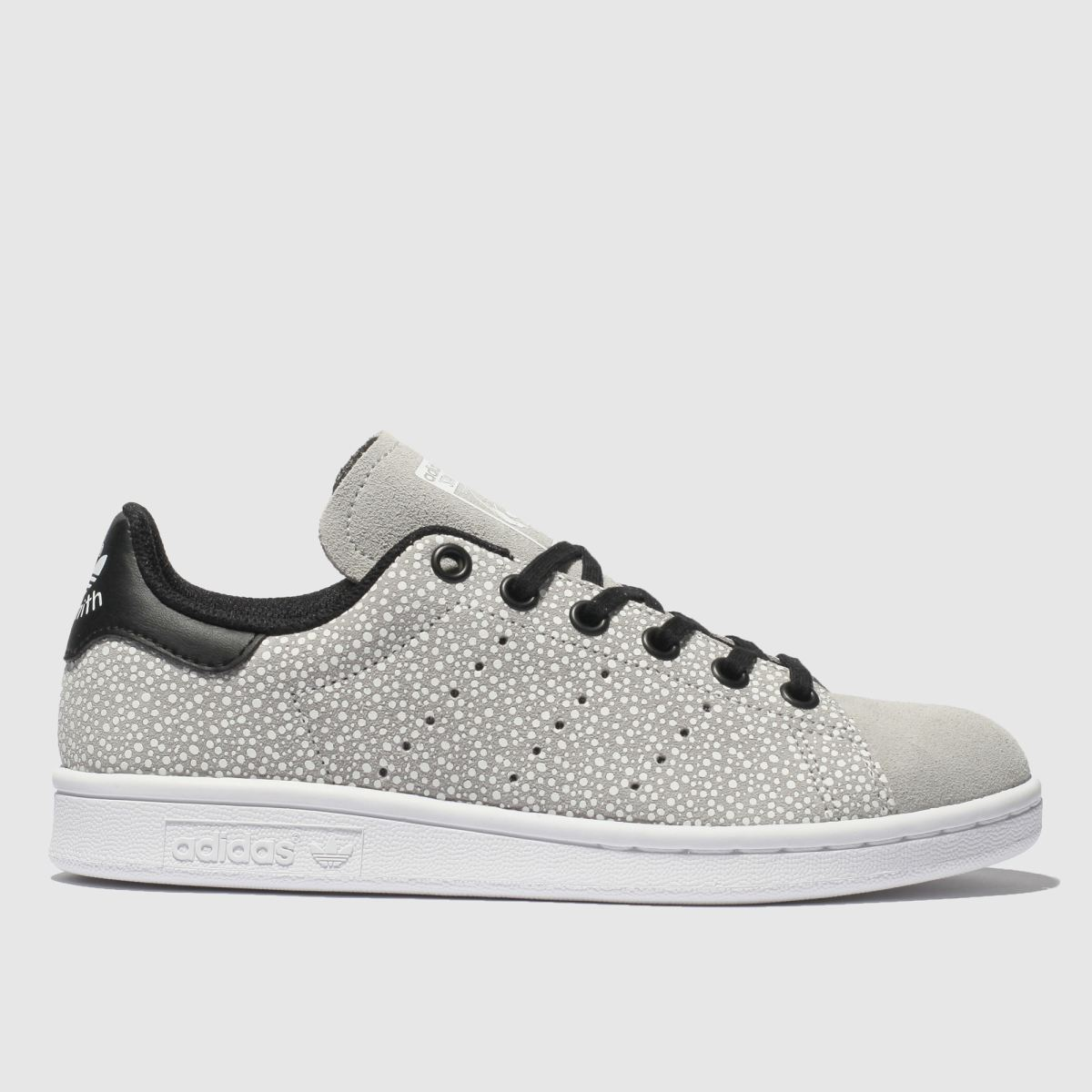 Adidas Light Grey Stan Smith Trainers Youth