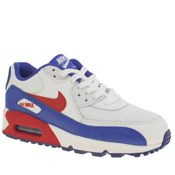 Nike White & Red Air Max 90 Mesh Unisex Youth
