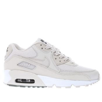 NIKE BEIGE AIR MAX 90 MESH YOUTH TRAINERS