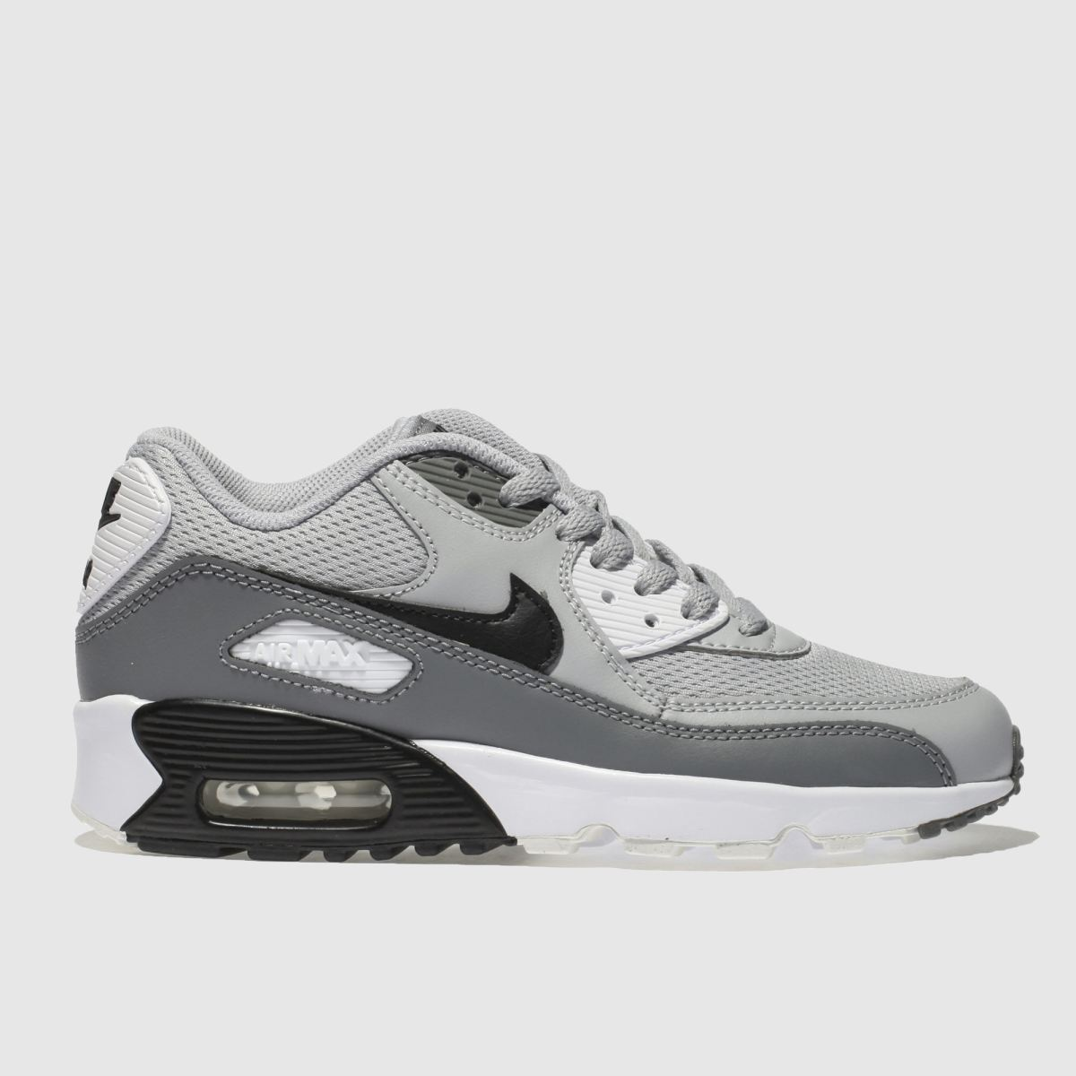 Nike Light Grey Air Max 90 Mesh Unisex Youth Youth