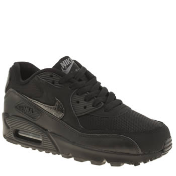 Unisex Nike Black Air Max 90 Mesh Unisex Youth