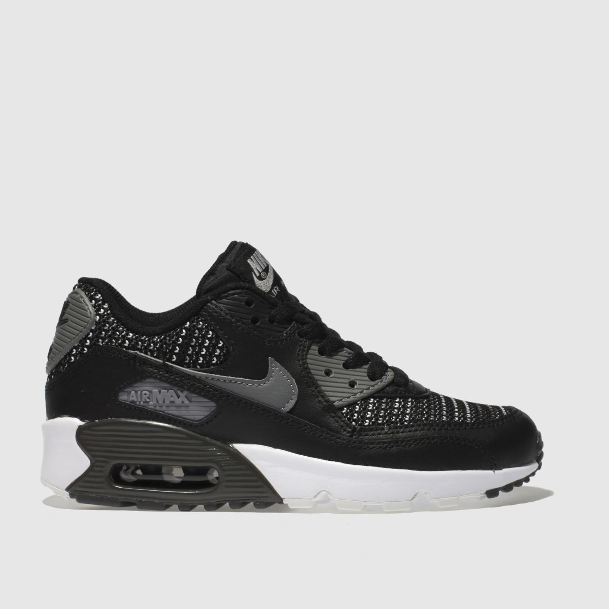 Nike Black & Grey Air Max 90 Mesh Se Unisex Youth Youth