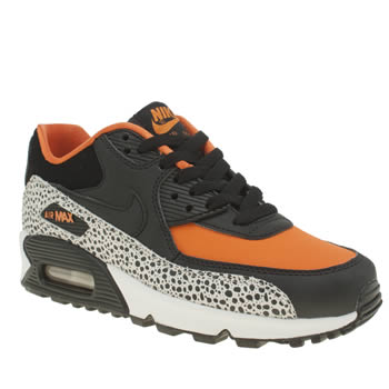 Nike Black & Orange Air Max 90 Safari Unisex Youth