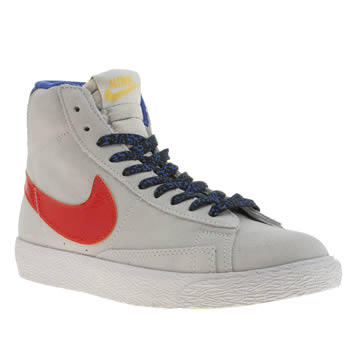 Nike Light Grey Blazer Mid Vintage Unisex Youth
