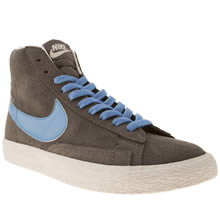 Youth Grey Nike Blazer Mid Vintage