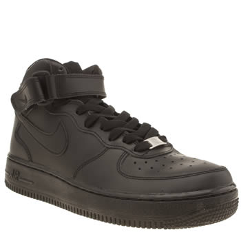 Unisex Nike Black Air Force 1 Mid Unisex Youth