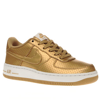 Nike Gold Air Force 1 Lv8 Unisex Youth