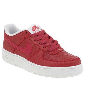 Nike Red Air Force 1 Lv8 Unisex Youth