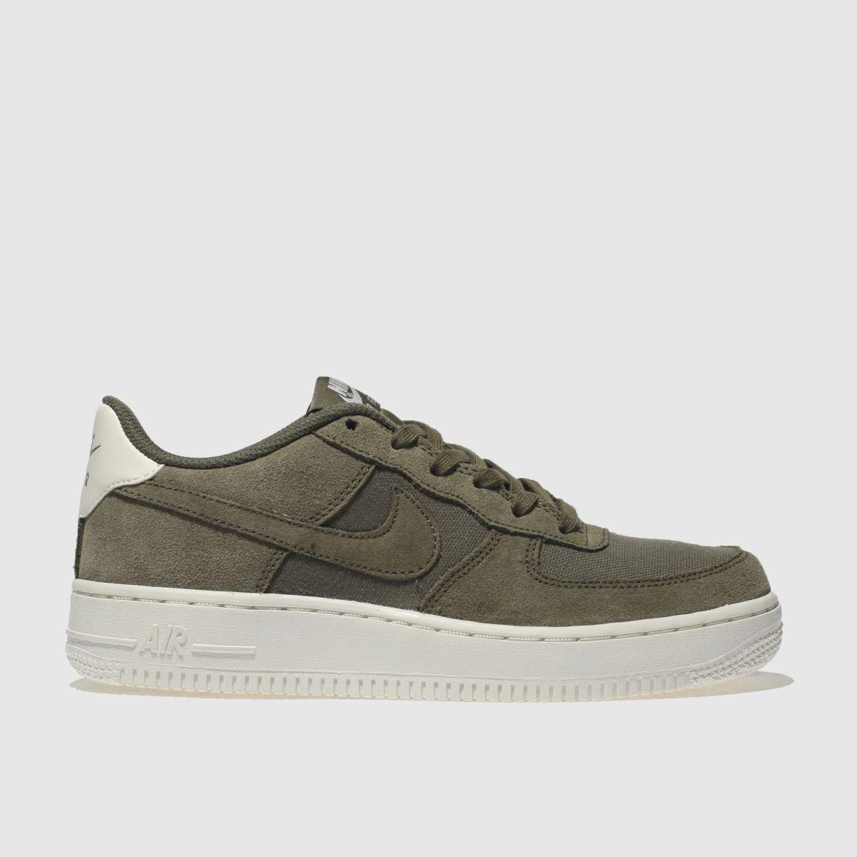 Nike Khaki Air Force 1 Trainers Youth