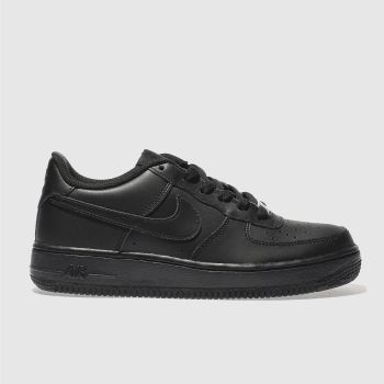 kids nike black air force 1 trainers