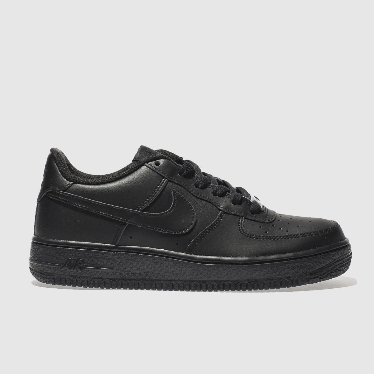 nike black air force 1 Youth Trainers