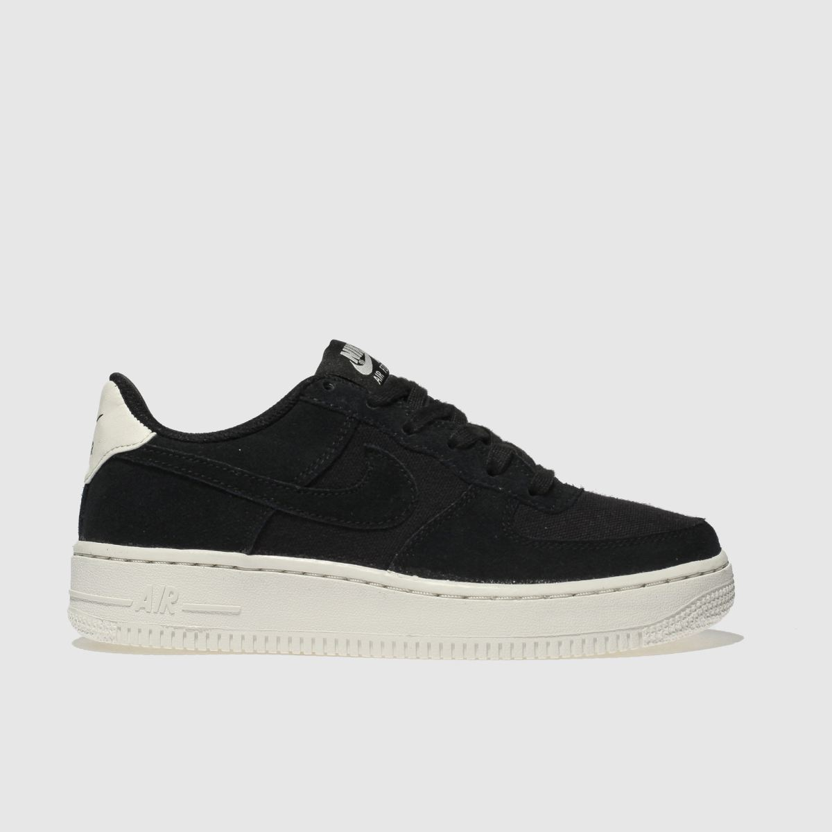 Nike Black & White Air Force 1 Unisex Youth Youth