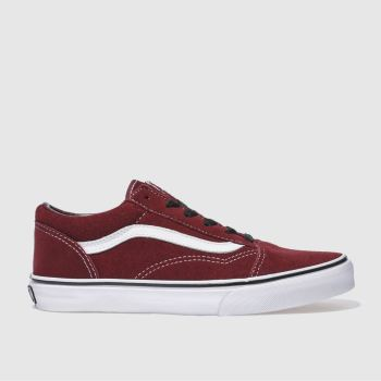 Vans Burgundy Old Skool Unisex Youth
