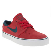 Nike Sb Red Stefan Janoski Unisex Youth