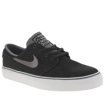 Nike Skateboarding Black & Grey Stefan Janoski Unisex Youth