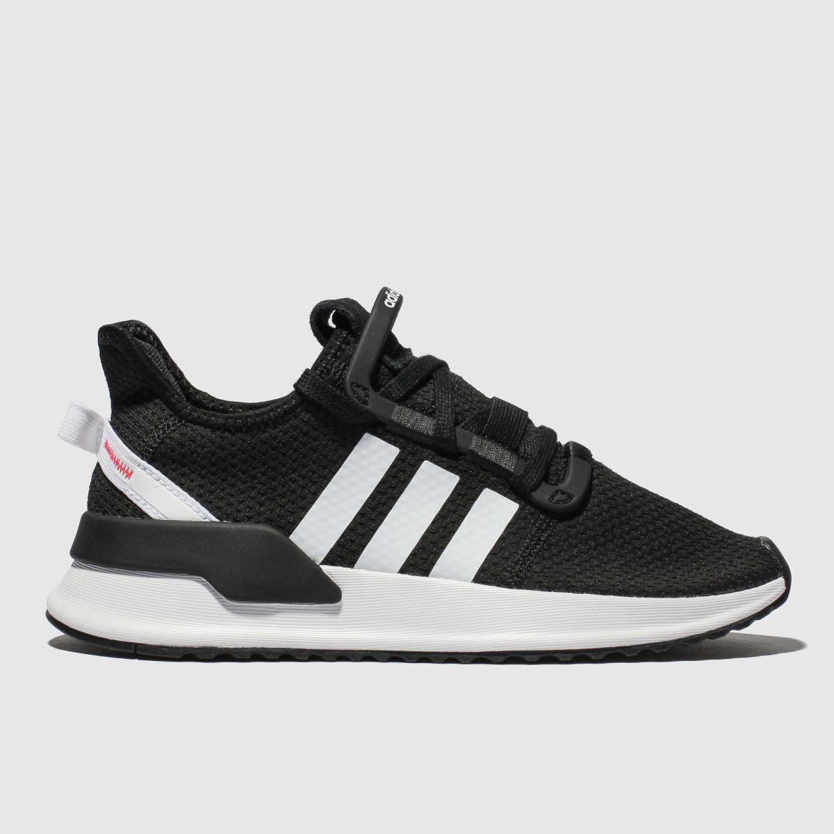 Adidas Black & White U_path Run Trainers Youth
