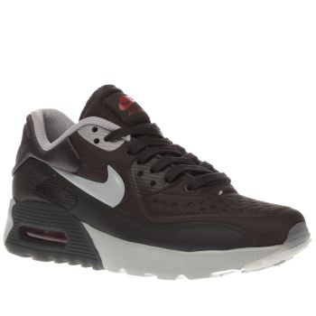 NIKE DARK GREY AIR MAX 90 ULTRA SE YOUTH TRAINERS