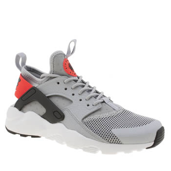 Nike Grey & Black Air Huarache Ultra Unisex Youth