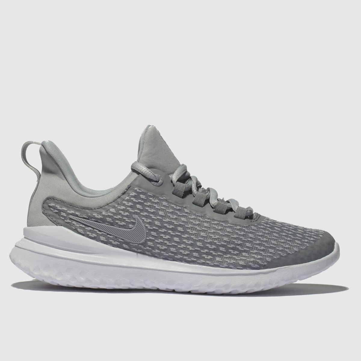 Nike Light Grey Renew Rival Trainers Youth