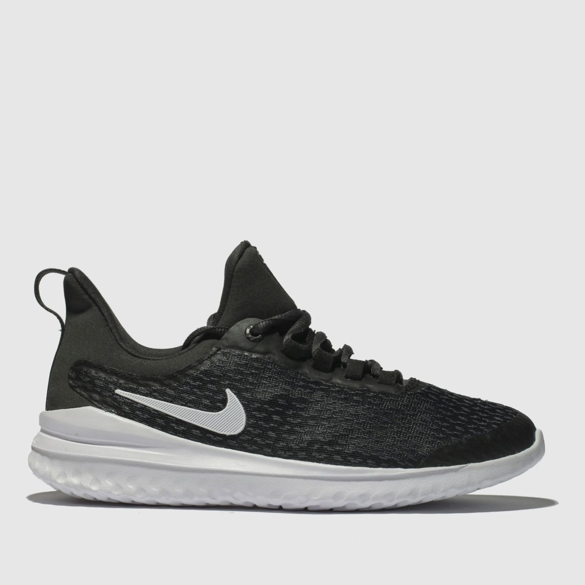 Nike Black & White Renew Rival Trainers Youth