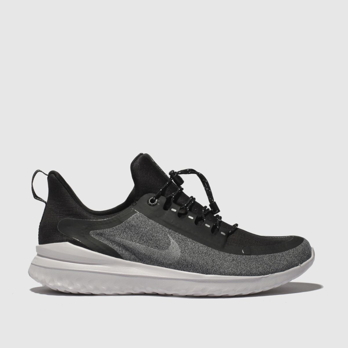 Nike Black & Grey Renew Rival Shield Trainers Youth