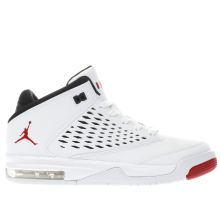 Nike Jordan White & Red Flight Origin 4 Unisex Youth