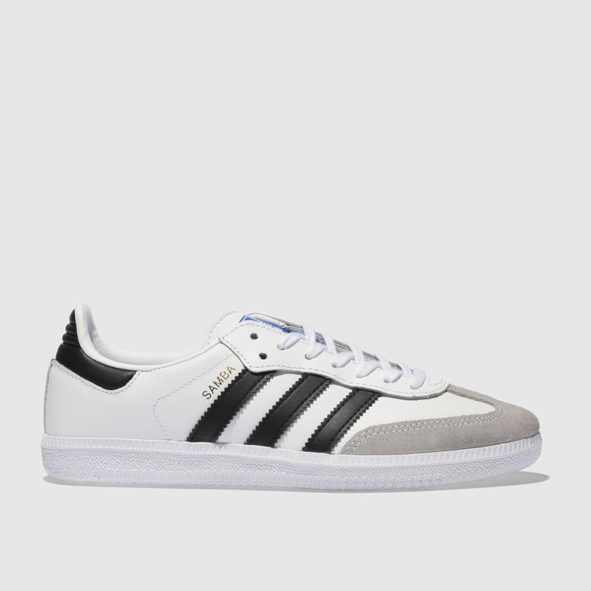 Adidas White & Black Samba Og Unisex Youth Youth