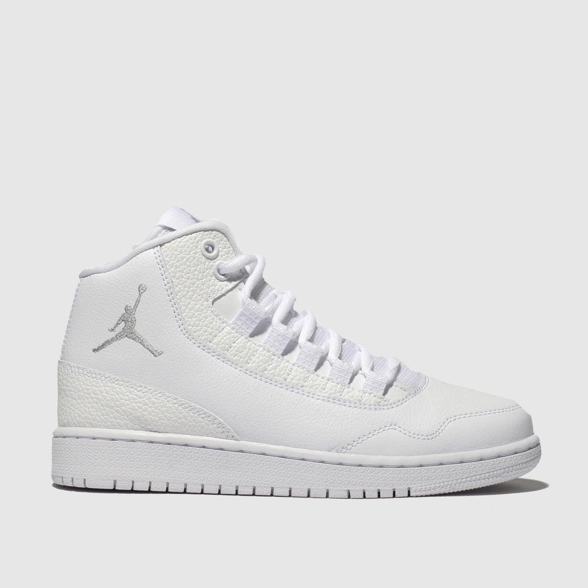 Nike Jordan White & Grey Executive Trainers Youth