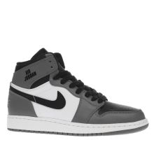 Nike Jordan White & grey 1 Retro High Unisex Youth