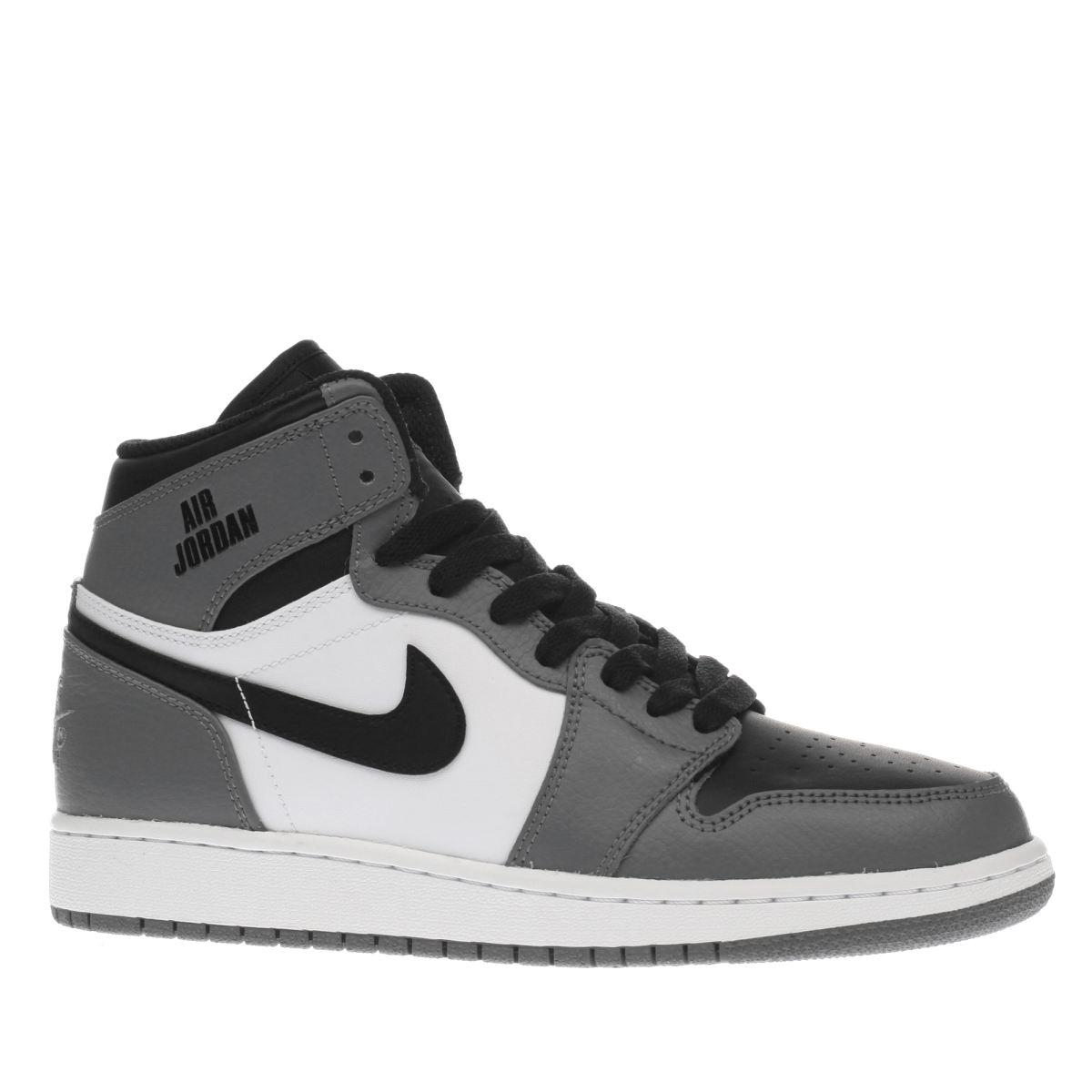 nike jordan Nike Jordan White & Grey 1 Retro High Unisex Youth