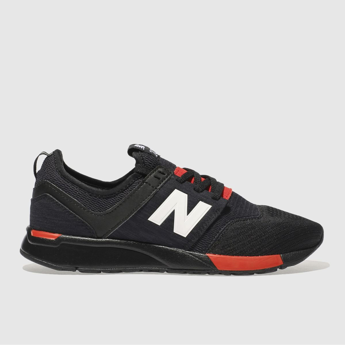 New Balance New Balance Black & Red 247 Youth Trainers